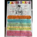 Aleena's amazing pirate ship poster!