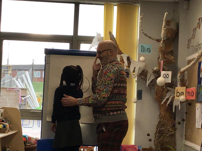 Nick gave a workshop to both Reception Classes.