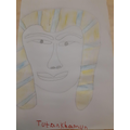 What a frightening looking pharaoh!