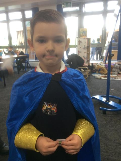 Marcel showing we be two super learning heroes