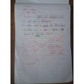 Anya's Maths and English Work