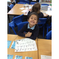 Lovely letter formations Sara!