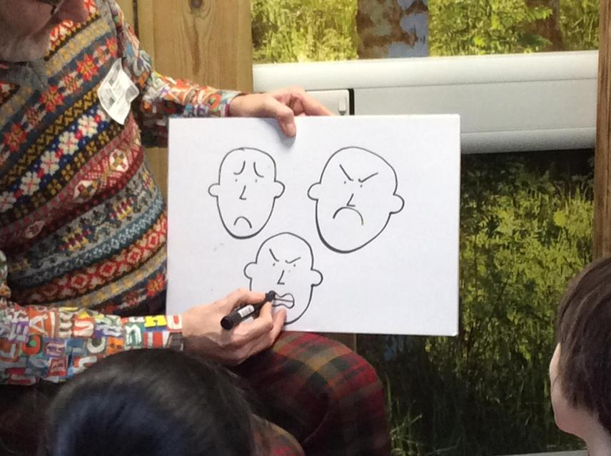 He explained how to create different expressions.