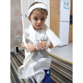 Hayley's brother as a mummy!