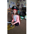Faye dressed up as a pirate during Pirate week!