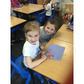Rosa and Olivia very proud of their work!