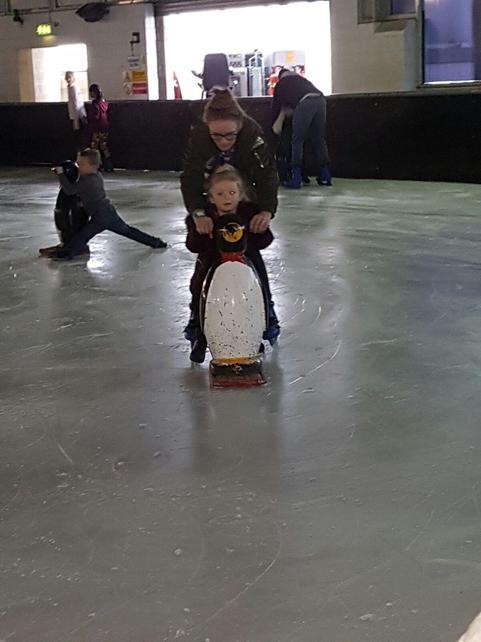 Ivy ice skating