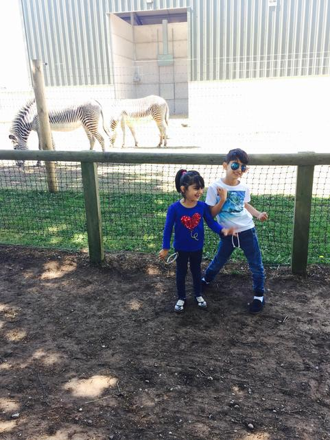 Azhe and his sister having a day out
