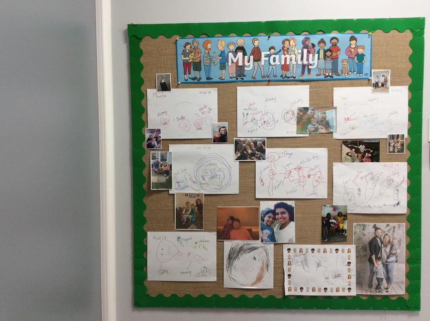 Our lovely pictures on display.