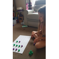 Faye playing a phonics game with her mummy!
