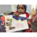 Well done to Boubacar for your reading nomination!