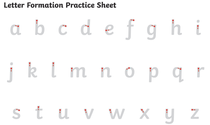 Please practice your letter formation at home :)