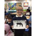 Great animal print work Caden!