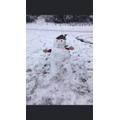 Hanna's amazing snowman!