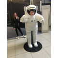 Lucas as an astronaut at Bradford science museum.