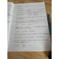 Some of Aoife's phonics work