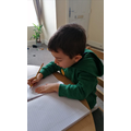 Mark making has been encouraged for children to make purposeful marks