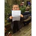 Oscar found a letter!!!