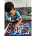 Ziah concentrating on his jigsaw!