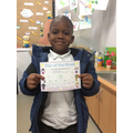 Mamadou 1a - for fantastic work in literacy