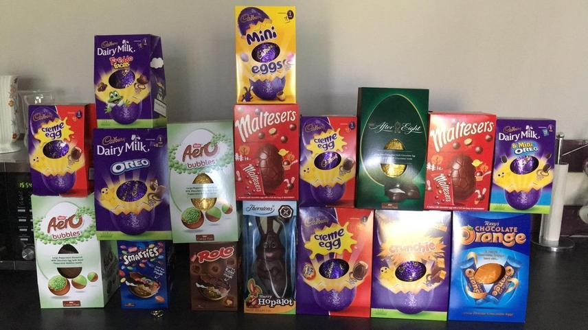Wow look at all Junaid's Easter eggs