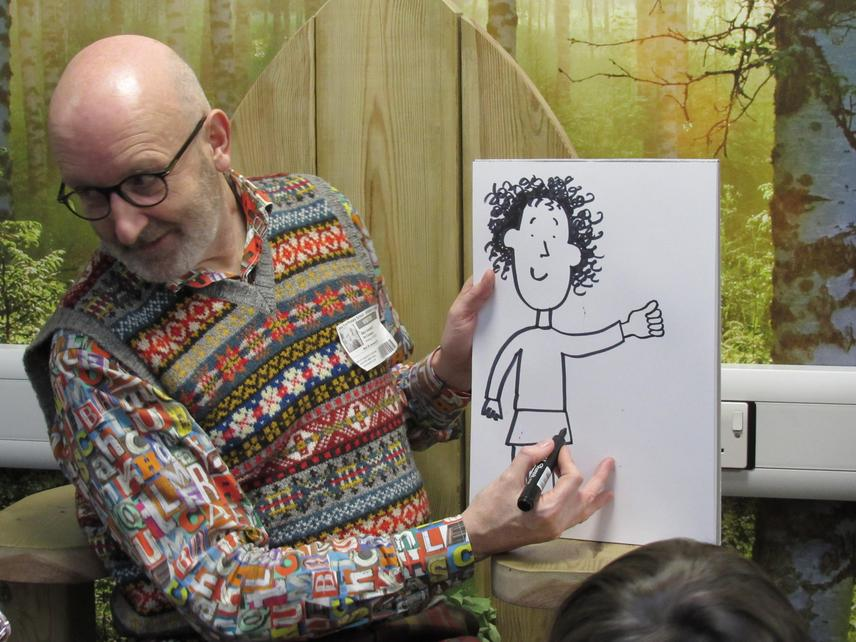 Nick showed us how to draw Tracy Beaker.