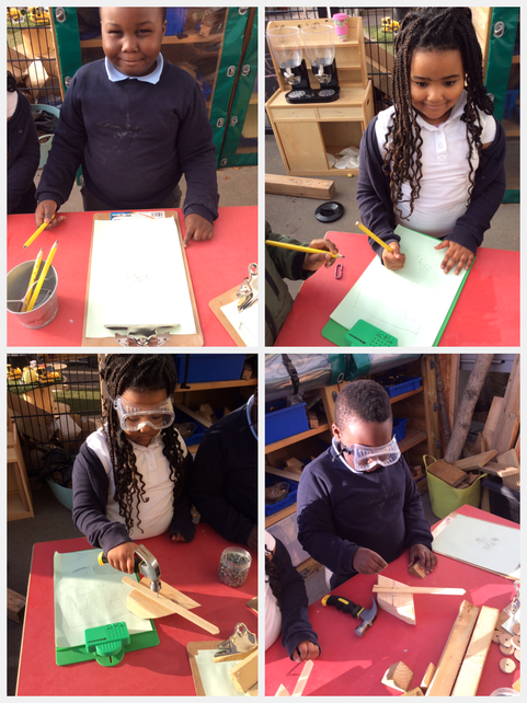 Planning our woodwork design.