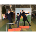 Harry, Yad and Mahek practising their balances
