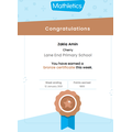 Zakia's certificate