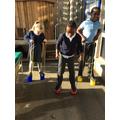Practising the art of stilt walking
