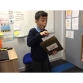 Bahand was very excited to open up the envelope!