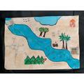 Aleena's fantastic treasure map!