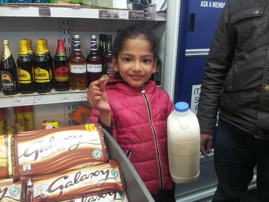 Muskaan was responsible at the shop.