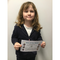 Olivia - 4B for being so enthusiastic in her reading! Amazing :)