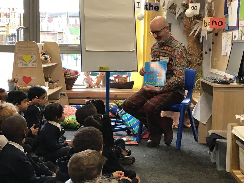 Nick read us lots of his favourite stories.