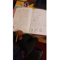 Joshua's home learning