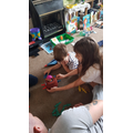 Playing pop up pirate with her brother!