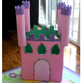 Leave the castle plain or decorate it like this.