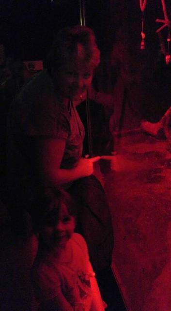 Ruby- Jayne looking at bats with her nana