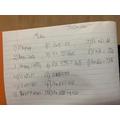 Josh's Maths Work