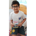 Aarokyo has been reading lots of books at home!