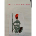 Aleena's brilliant drawing of a knight!