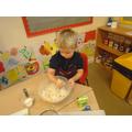 baking Kipper's Birthday cake