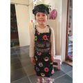Scarlett ready to bake