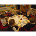 making jam sandwiches as part of our maths activity.