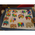 our colourful clay elephants