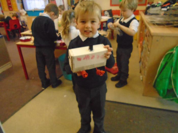 creating toys using junk model boxes