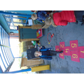 ways to make 6 - bean bag throwing into a hoop and tallying our scores
