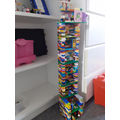 Betty has been busy building with lego