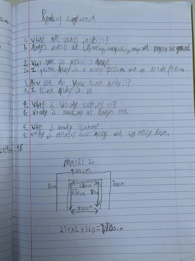Sonny' maths work